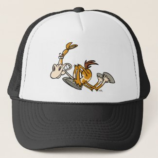 Horse Power cartoon trucker hat hat