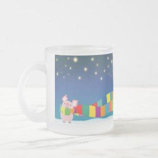 Little Pig's Christmas mug mug