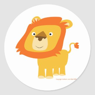 Cartoony lion sticker sticker