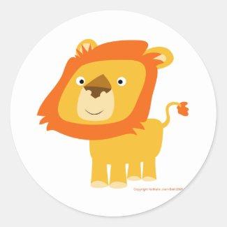 Cartoony lion sticker sticker