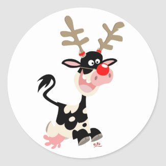Christmas Reindeer counterfeit sticker