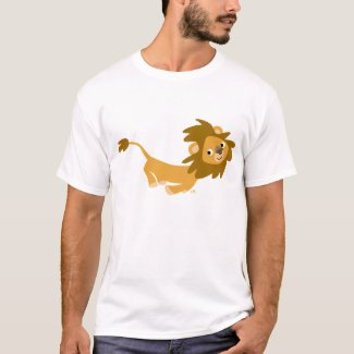 Cute Running Lion T-shirt shirt