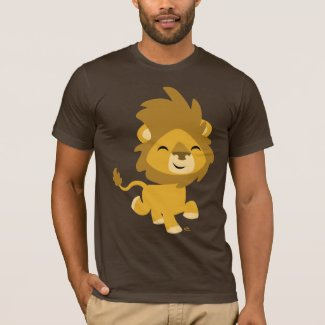 Happy Cartoon Lion T-shirt shirt
