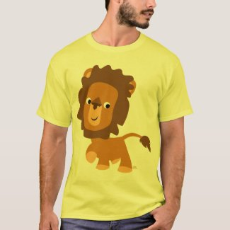 Cartoon Content Lion T-shirt shirt