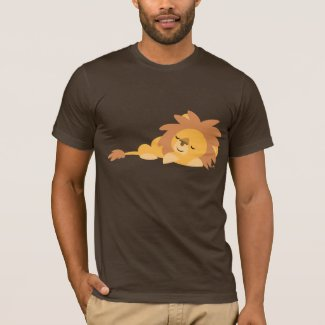Slumbering Cartoon Lion T-shirt shirt
