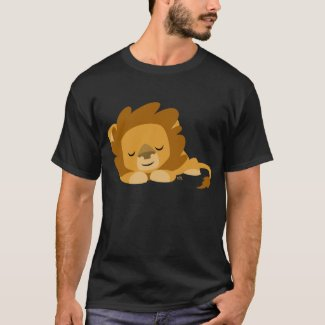 Sleeping Cartoon Lion T-shirt shirt