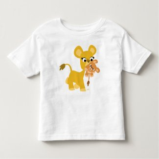 Cartoon Mother Lion and Cub kids t-shirt shirt