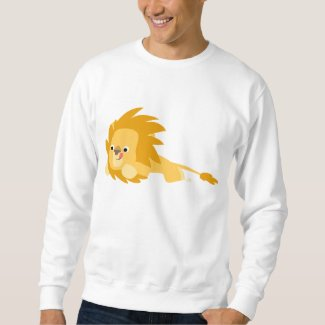 Bouncy Cartoon Lion Apparel shirt