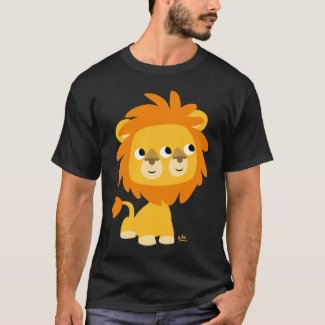 Two-Faced, the cuttest cartoon lion T-shirt shirt