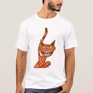 Smiling Orange Kitty cartoon T-shirt shirt