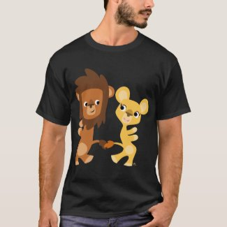 Cartoon Lion and Lioness  dancing T-shirt shirt