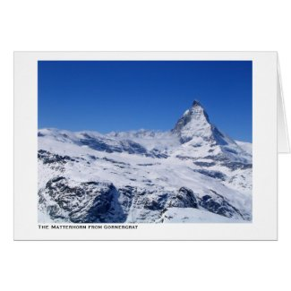 The Matterhorn from Gornergrat card