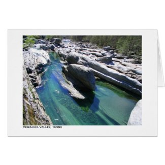 Verzasca Valley, Ticino card