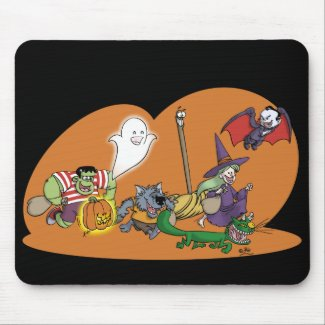 Trick or Treat mousepad mousepad