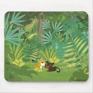 In the Jungle mousepad mousepad