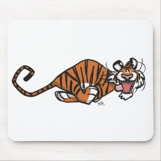Cartoon Running Tiger mousepad mousepad