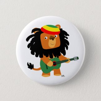 Lion of Zion button badge