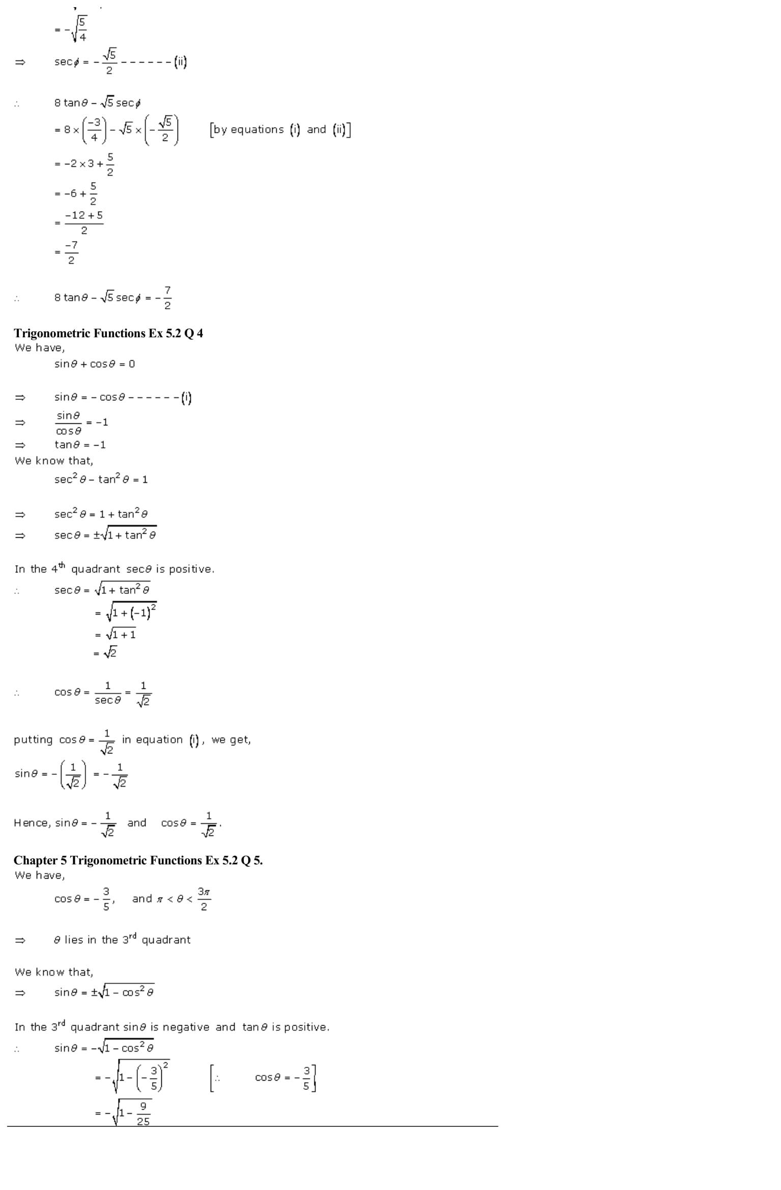 RD Sharma Class 11 Solutions Chapter 5 Trigonometric