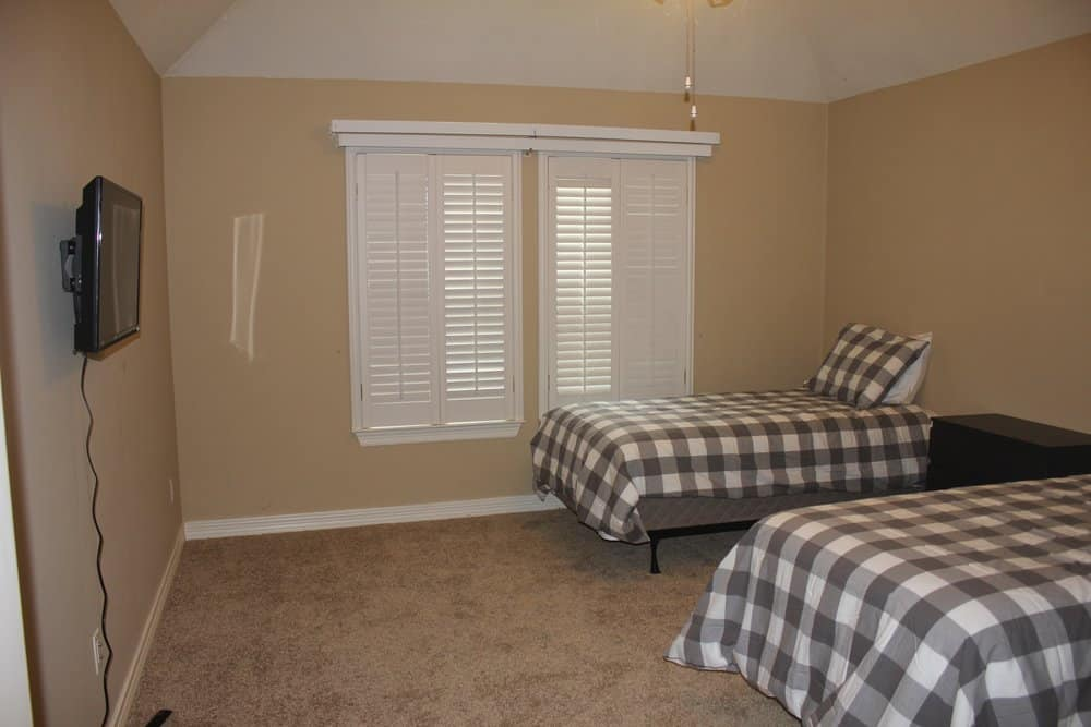 Bedroom in Plano sober living
