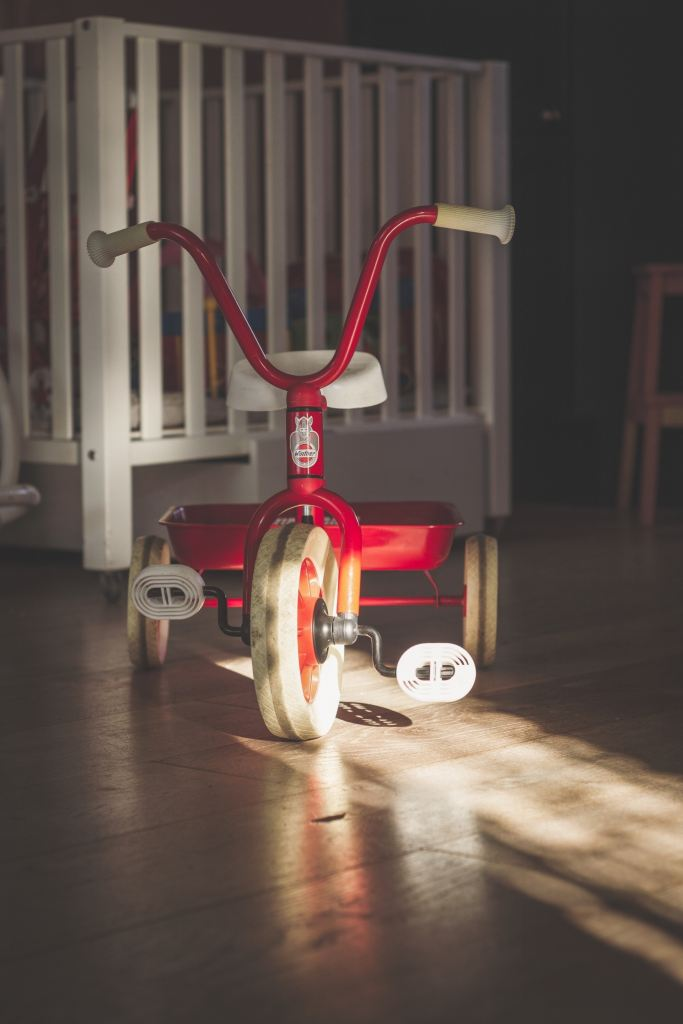 A red tricycle