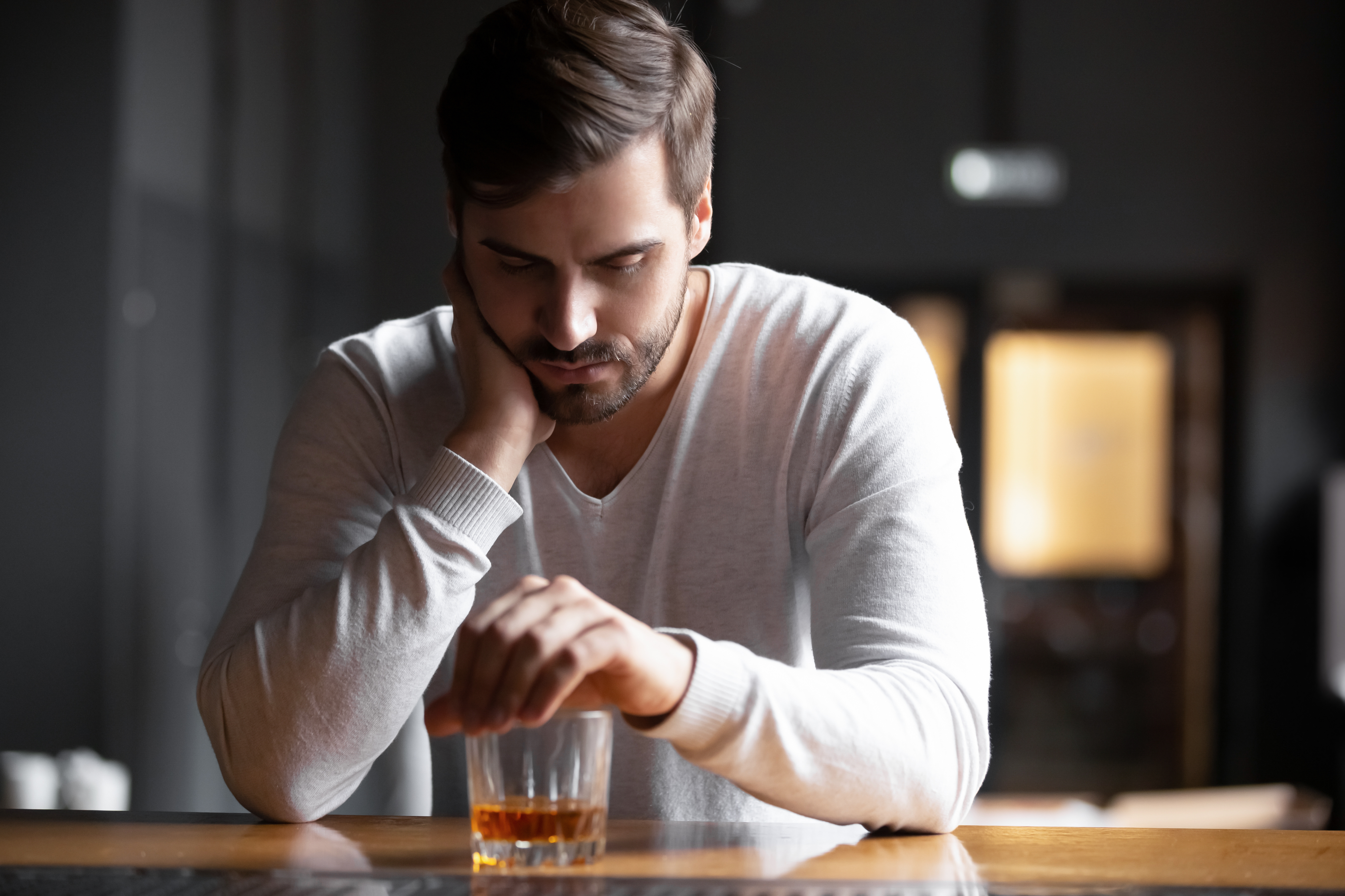 Man suffering with alcoholism
