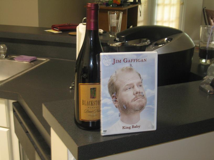 "Jim Gaffigan's ""King Baby"" and a Blackstone Pinot Noir"