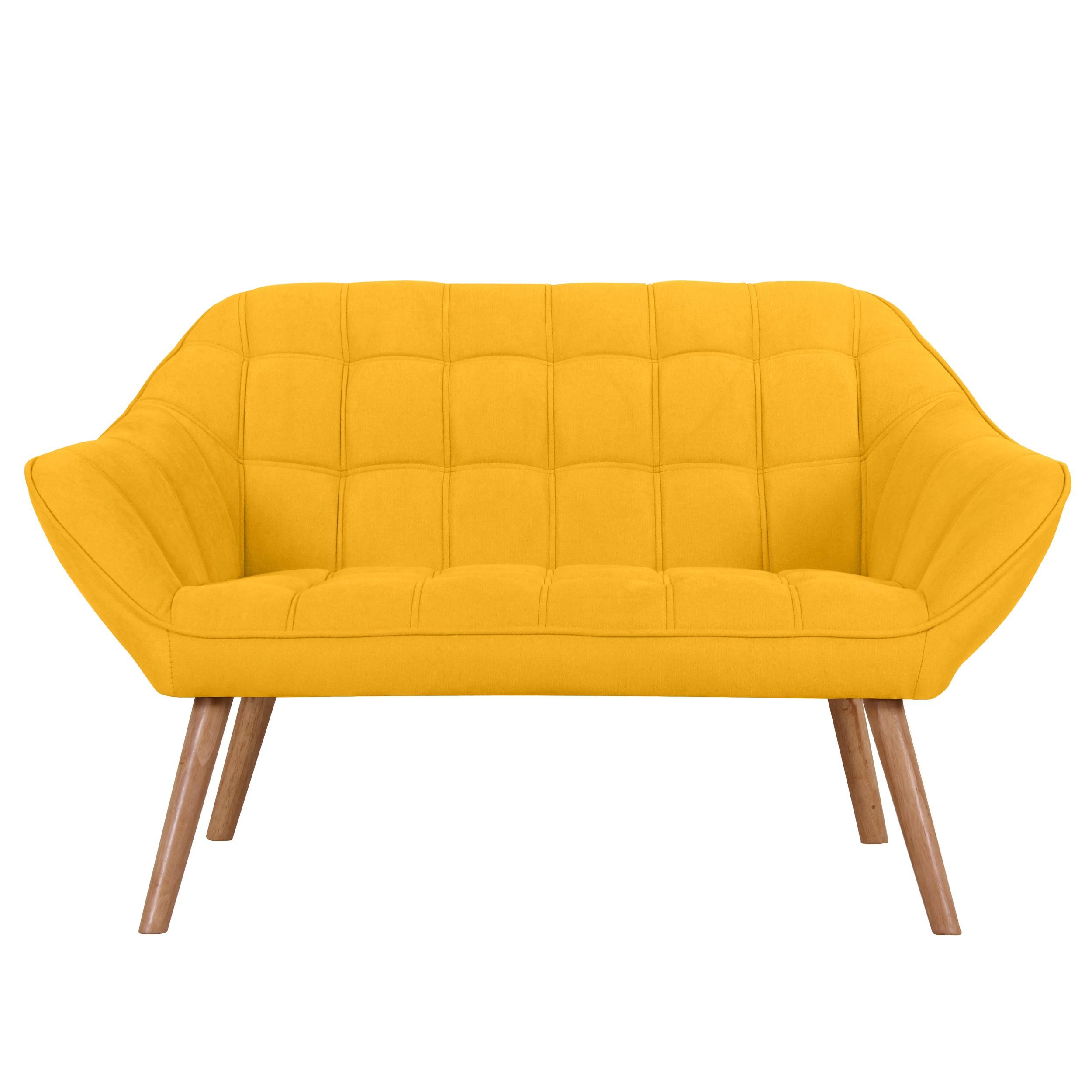 canape simba 2 places jaune