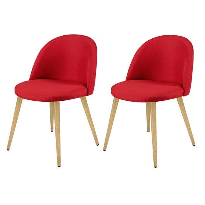 chaise cozy rouge lot de 2