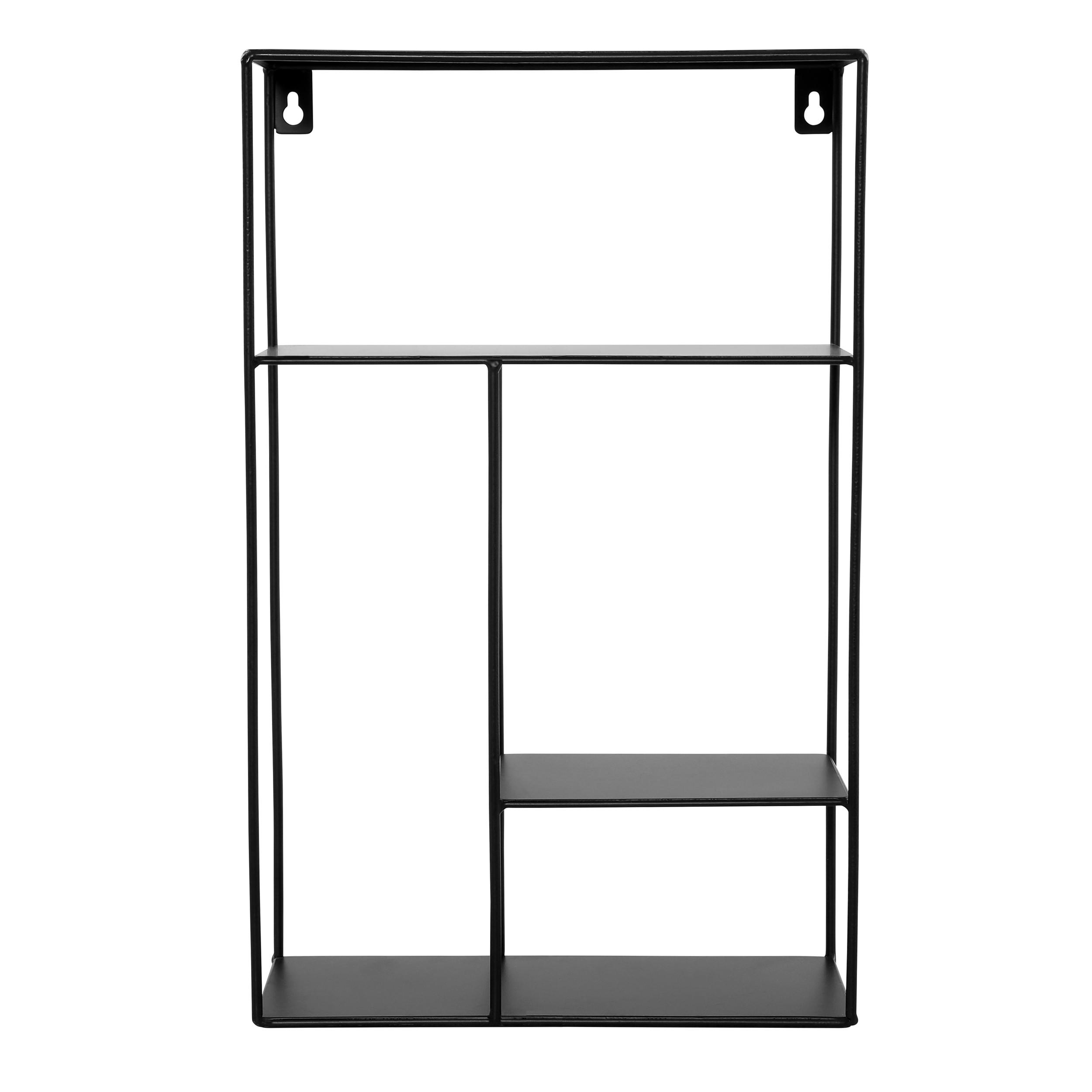etagere murale lime 4 casiers en metal noir