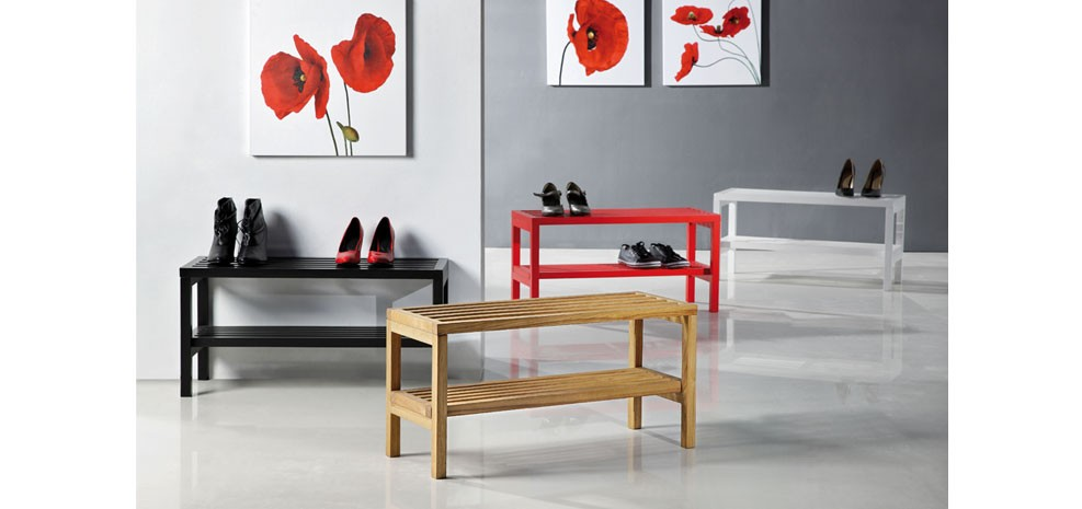 meuble a chaussure soulier rouge