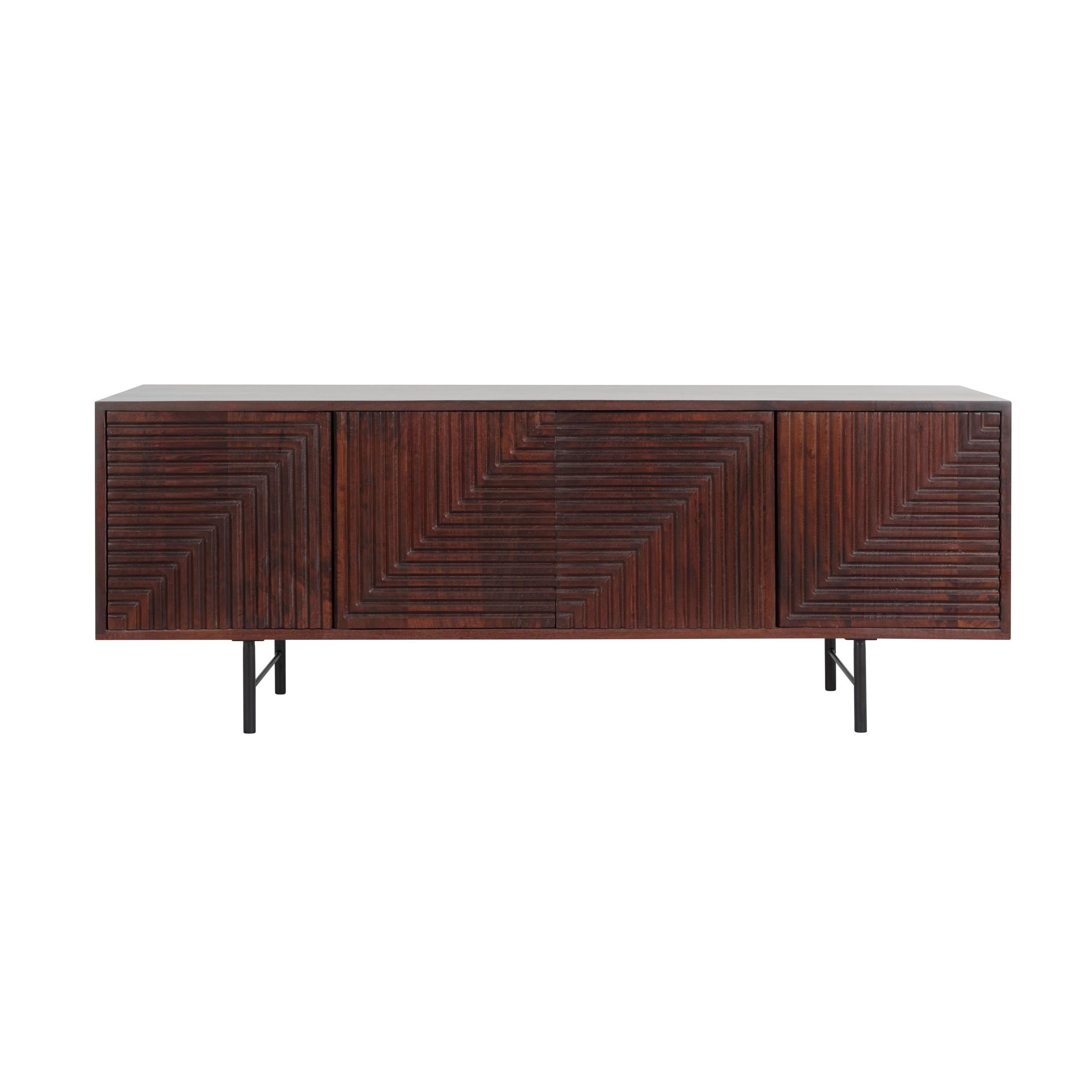meuble tv cleopatre en bois 4 portes