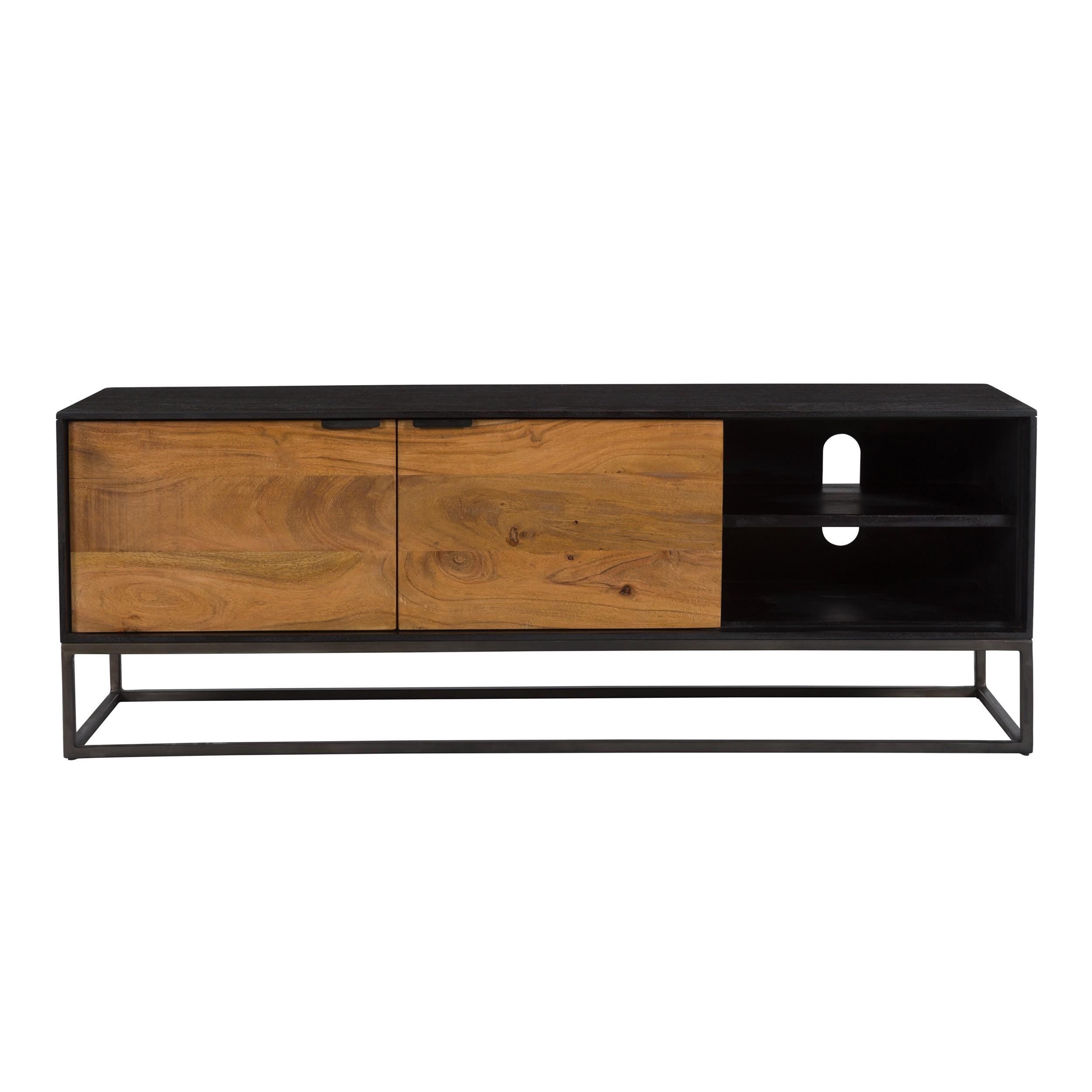 meuble tv jakson 2 portes 2 niches