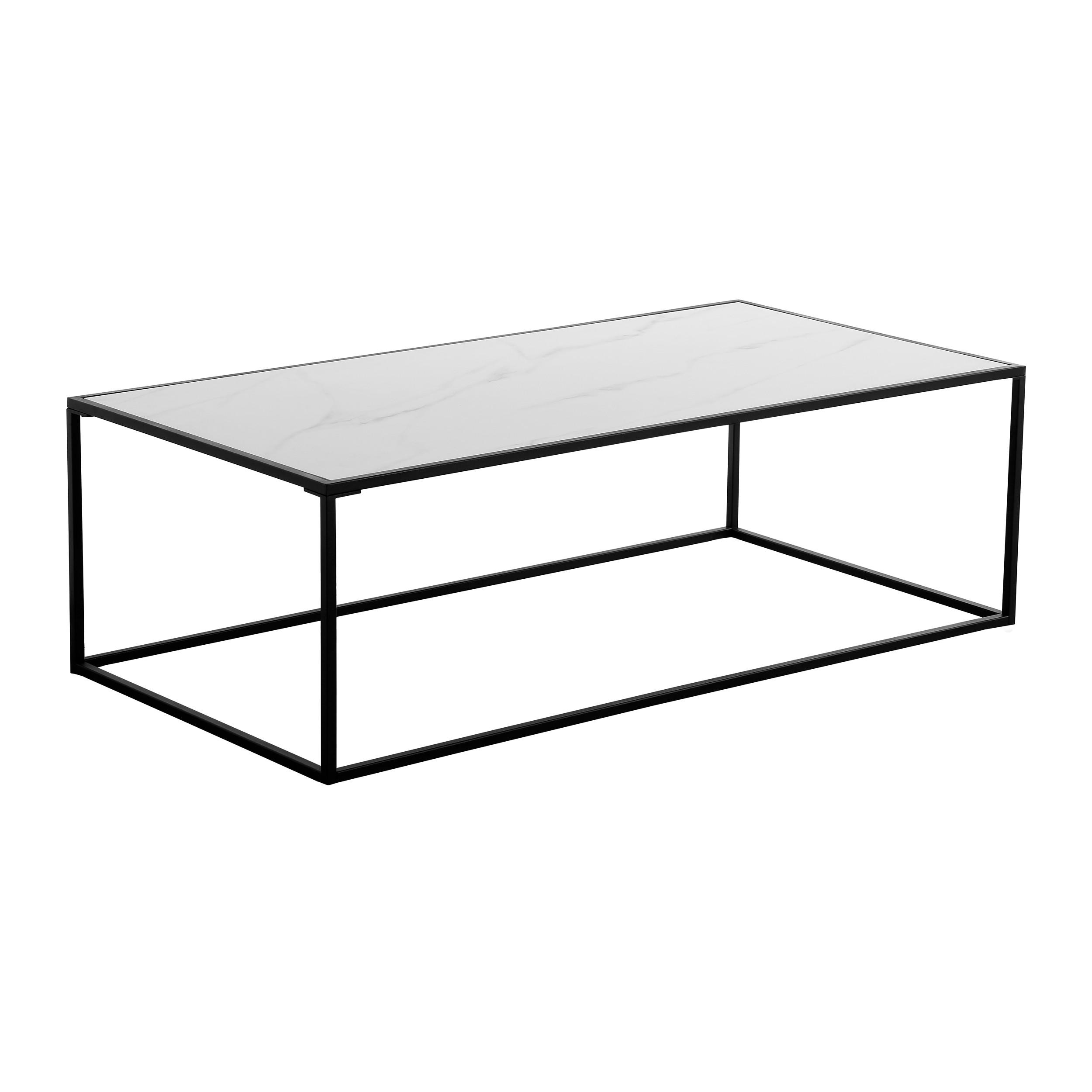 table basse rectangulaire komis en verre et ceramique