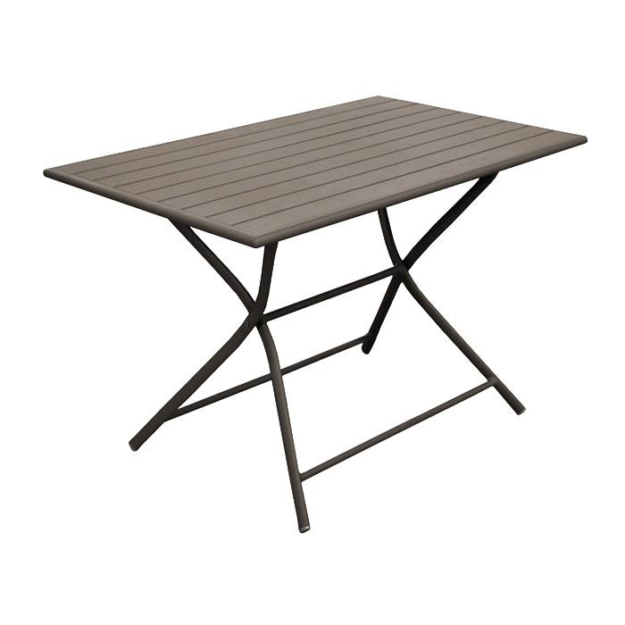 table de jardin globe pliante cafe 110 cm