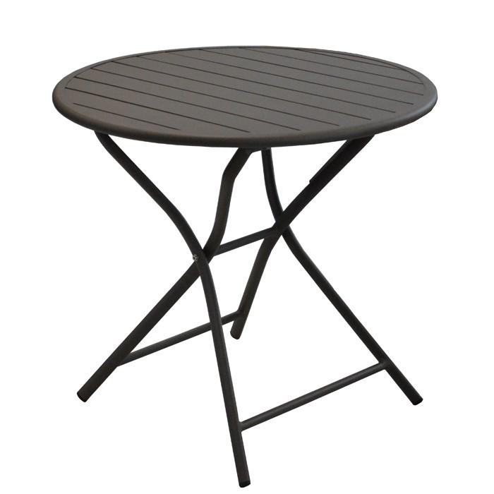 table de jardin globe pliante cafe 80 cm