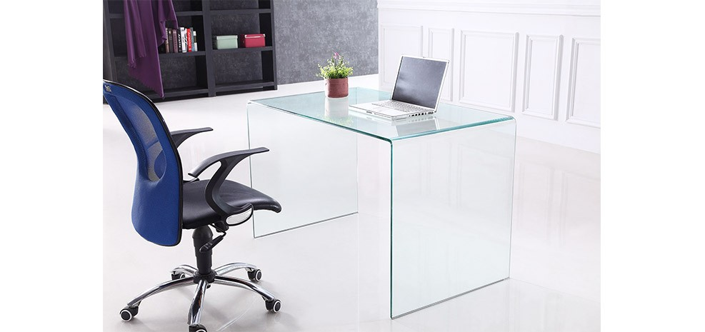 Bureau En Verre Pure Choisissez Nos Bureaux En Verre Pure Design Et Economiques Rendez Vous Deco