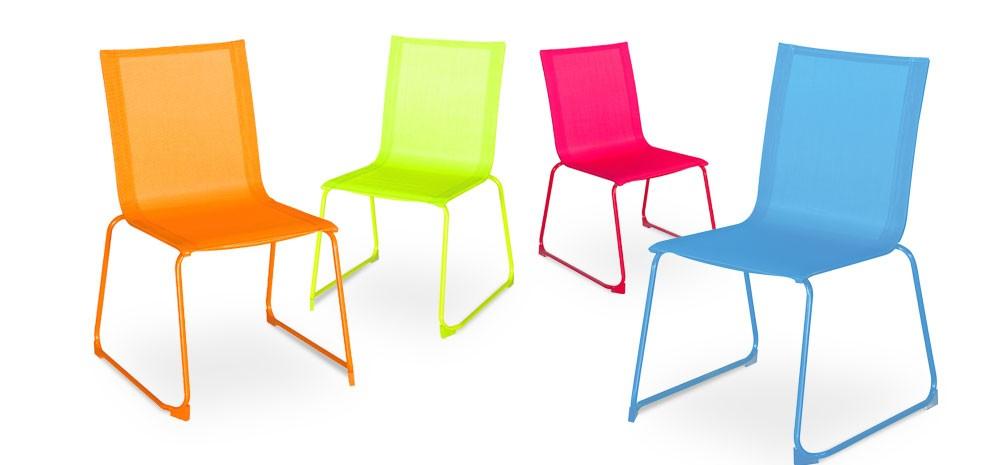 chaise de jardin verano bleue lot de 2