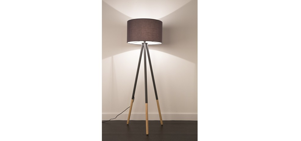lampadaire highland gris fonce