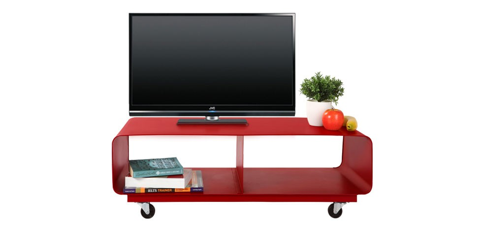 meuble tv rool rouge