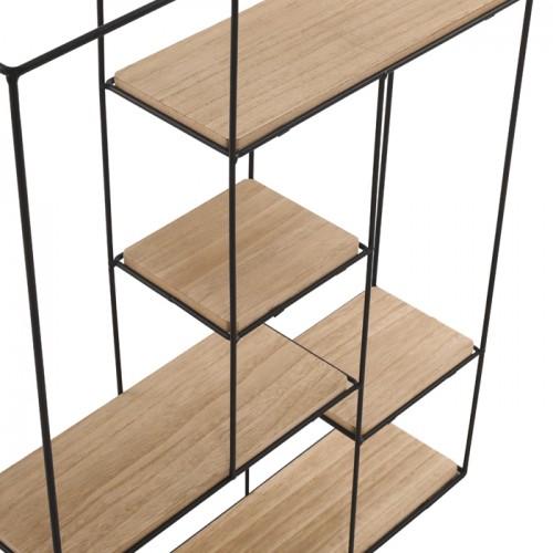 etagere murale verticale gigaro en metal et bois