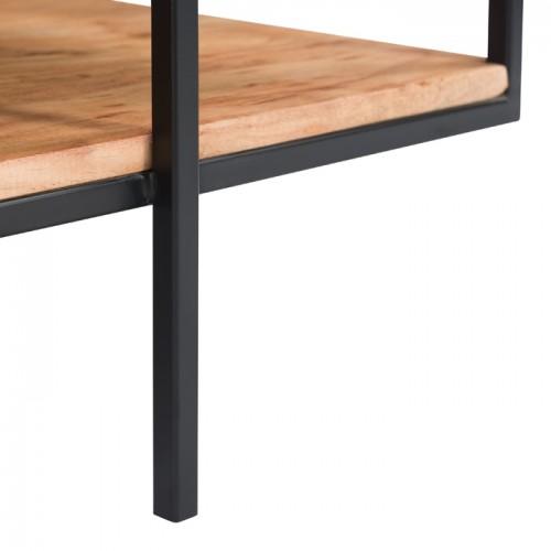 table basse pamela en bois et metal