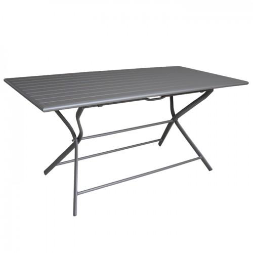 table de jardin globe pliante grise 160 cm