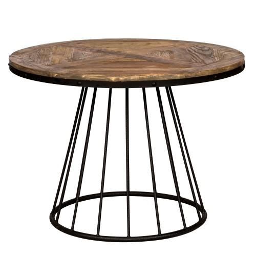 table pralus ronde en bois 110 cm