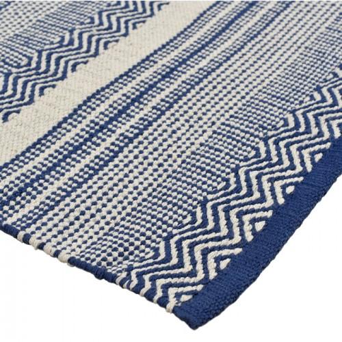 tapis bleu cesar en coton 140x200 cm