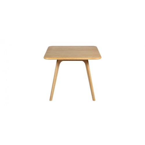 table basse en chene native carree