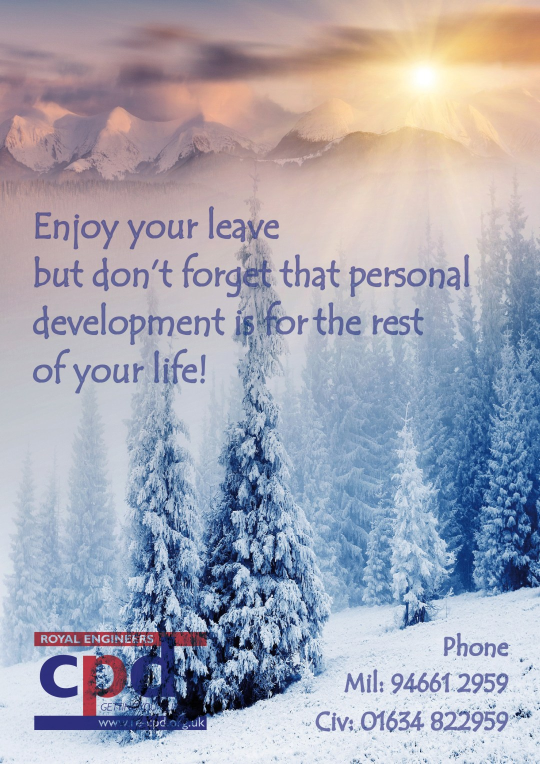 Enjoy your leave