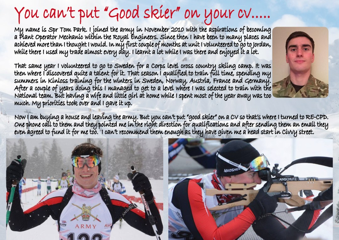 "You can't put ""good skier"" on your CV….."