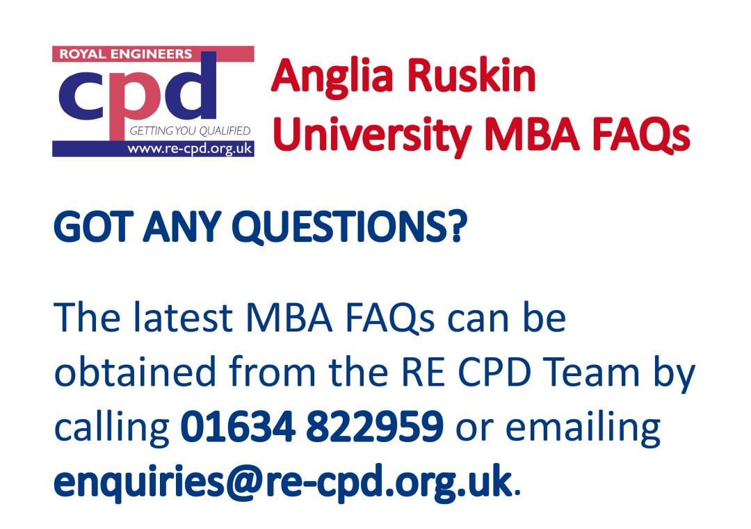 Anglia Ruskin University MBA FAQs