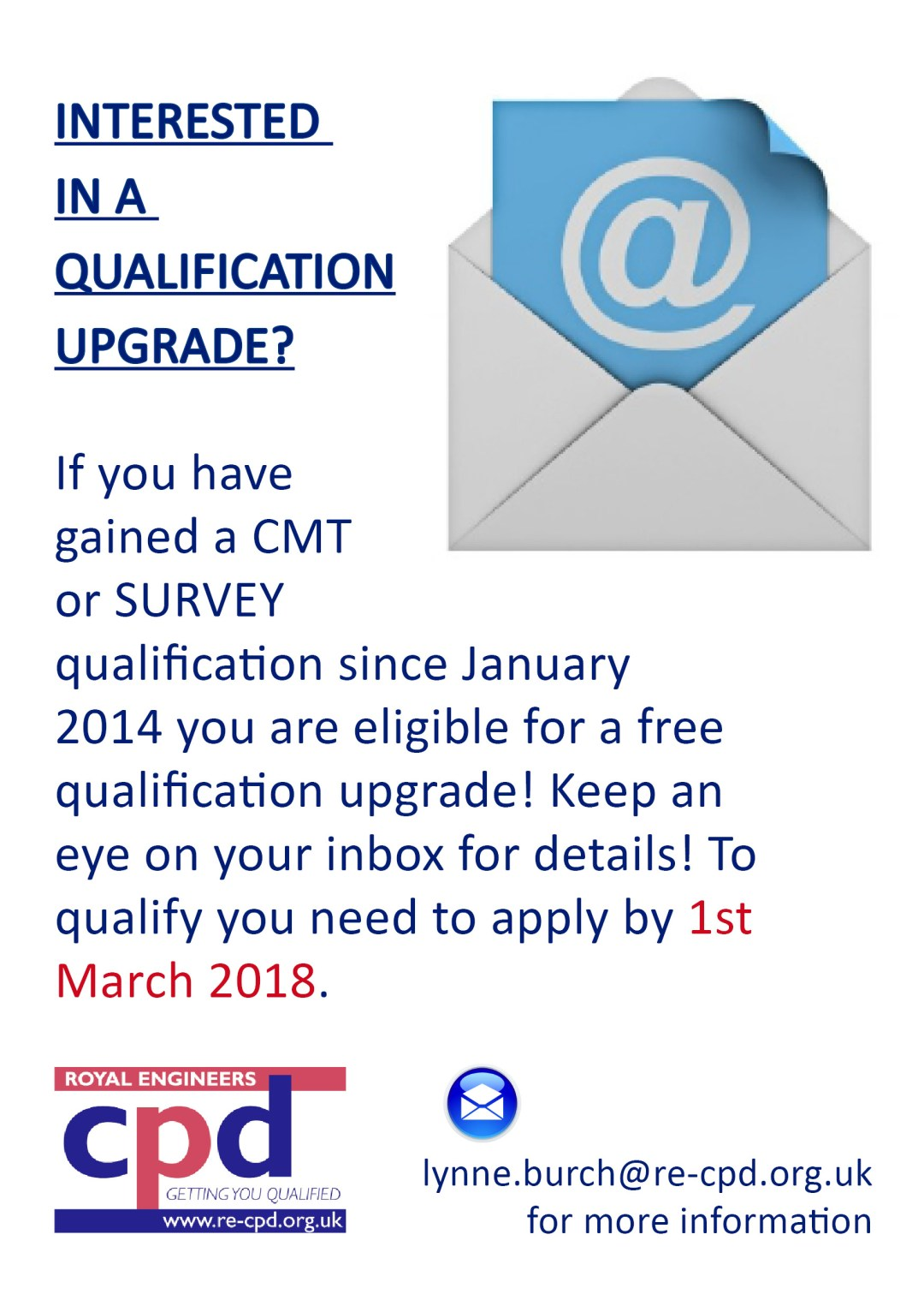 CMT/SURVEY QUALIFICATION UPGRADE?