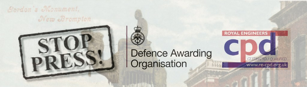 RE CPD have developed three more qualifications through the Defence Awarding Organisation